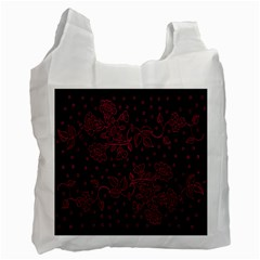 Pink Floral Pattern Background Wallpaper Recycle Bag (Two Side)
