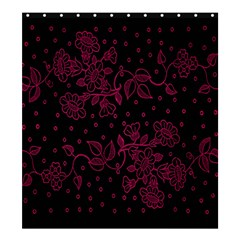 Pink Floral Pattern Background Wallpaper Shower Curtain 66  X 72  (large)