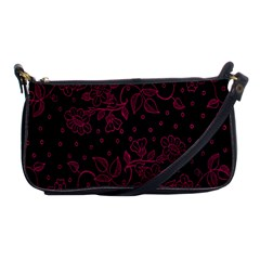 Pink Floral Pattern Background Wallpaper Shoulder Clutch Bags