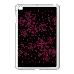 Pink Floral Pattern Background Wallpaper Apple Ipad Mini Case (white)