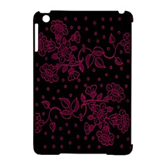 Pink Floral Pattern Background Wallpaper Apple Ipad Mini Hardshell Case (compatible With Smart Cover)