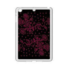 Pink Floral Pattern Background Wallpaper Ipad Mini 2 Enamel Coated Cases