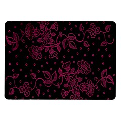 Pink Floral Pattern Background Wallpaper Samsung Galaxy Tab 10 1  P7500 Flip Case