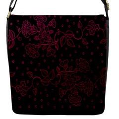 Pink Floral Pattern Background Wallpaper Flap Messenger Bag (S)