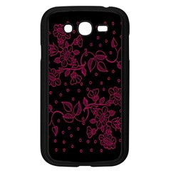 Pink Floral Pattern Background Wallpaper Samsung Galaxy Grand Duos I9082 Case (black)
