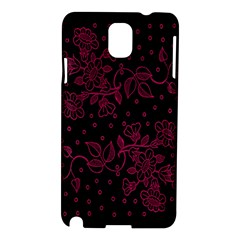 Pink Floral Pattern Background Wallpaper Samsung Galaxy Note 3 N9005 Hardshell Case