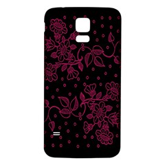 Pink Floral Pattern Background Wallpaper Samsung Galaxy S5 Back Case (white)