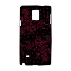 Pink Floral Pattern Background Wallpaper Samsung Galaxy Note 4 Hardshell Case