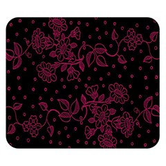 Pink Floral Pattern Background Wallpaper Double Sided Flano Blanket (small)
