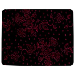 Pink Floral Pattern Background Wallpaper Jigsaw Puzzle Photo Stand (Rectangular)