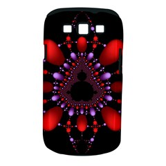 Fractal Red Violet Symmetric Spheres On Black Samsung Galaxy S Iii Classic Hardshell Case (pc+silicone)