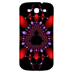 Fractal Red Violet Symmetric Spheres On Black Samsung Galaxy S3 S Iii Classic Hardshell Back Case
