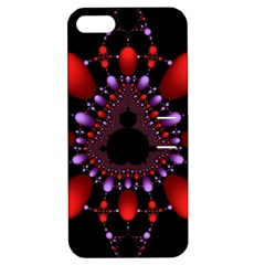Fractal Red Violet Symmetric Spheres On Black Apple iPhone 5 Hardshell Case with Stand