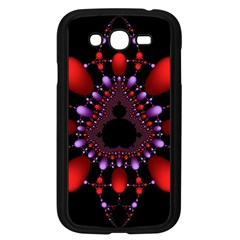 Fractal Red Violet Symmetric Spheres On Black Samsung Galaxy Grand Duos I9082 Case (black)