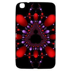 Fractal Red Violet Symmetric Spheres On Black Samsung Galaxy Tab 3 (8 ) T3100 Hardshell Case