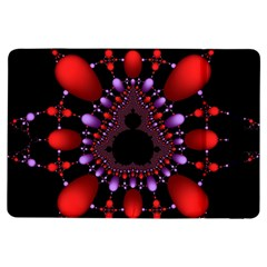 Fractal Red Violet Symmetric Spheres On Black Ipad Air Flip