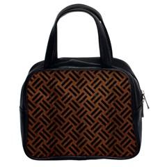 WOV2 BK-MRBL BR-WOOD (R) Classic Handbags (2 Sides)