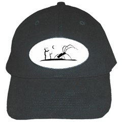 Dark Scene Silhouette Style Graphic Illustration Black Cap