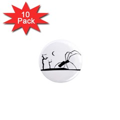Dark Scene Silhouette Style Graphic Illustration 1  Mini Magnet (10 pack)