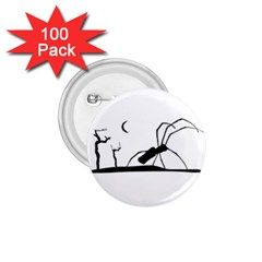 Dark Scene Silhouette Style Graphic Illustration 1.75  Buttons (100 pack)