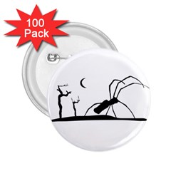 Dark Scene Silhouette Style Graphic Illustration 2.25  Buttons (100 pack)