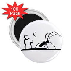 Dark Scene Silhouette Style Graphic Illustration 2 25  Magnets (100 Pack)