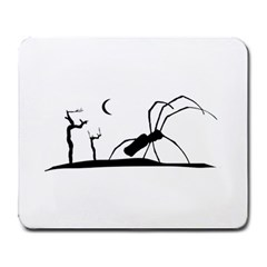 Dark Scene Silhouette Style Graphic Illustration Large Mousepads