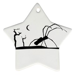 Dark Scene Silhouette Style Graphic Illustration Star Ornament (Two Sides)
