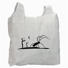 Dark Scene Silhouette Style Graphic Illustration Recycle Bag (Two Side)