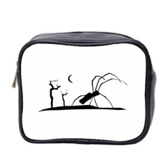 Dark Scene Silhouette Style Graphic Illustration Mini Toiletries Bag 2 Side