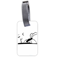 Dark Scene Silhouette Style Graphic Illustration Luggage Tags (One Side)