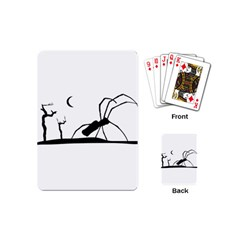 Dark Scene Silhouette Style Graphic Illustration Playing Cards (Mini)