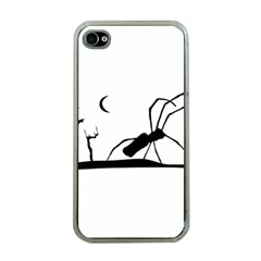 Dark Scene Silhouette Style Graphic Illustration Apple iPhone 4 Case (Clear)