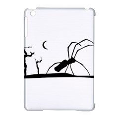 Dark Scene Silhouette Style Graphic Illustration Apple iPad Mini Hardshell Case (Compatible with Smart Cover)