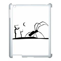 Dark Scene Silhouette Style Graphic Illustration Apple iPad 3/4 Case (White)