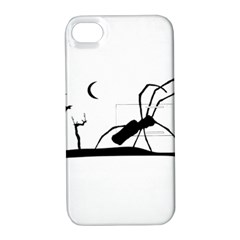 Dark Scene Silhouette Style Graphic Illustration Apple Iphone 4/4s Hardshell Case With Stand