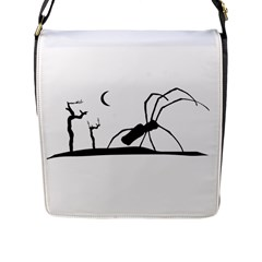 Dark Scene Silhouette Style Graphic Illustration Flap Messenger Bag (l)