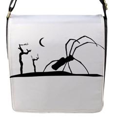 Dark Scene Silhouette Style Graphic Illustration Flap Messenger Bag (S)