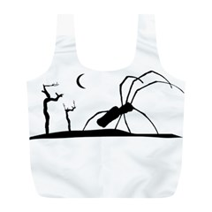Dark Scene Silhouette Style Graphic Illustration Full Print Recycle Bags (L)