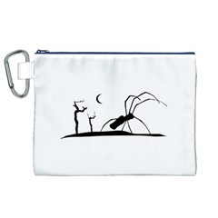 Dark Scene Silhouette Style Graphic Illustration Canvas Cosmetic Bag (XL)