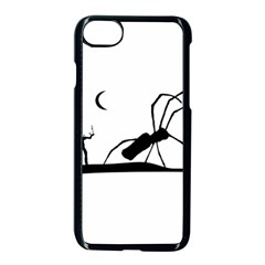 Dark Scene Silhouette Style Graphic Illustration Apple iPhone 7 Seamless Case (Black)