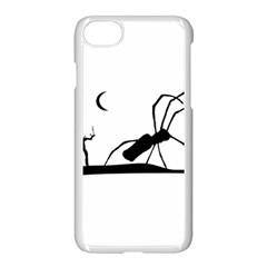 Dark Scene Silhouette Style Graphic Illustration Apple iPhone 7 Seamless Case (White)