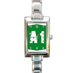 Autostrada A1 Rectangle Italian Charm Watch
