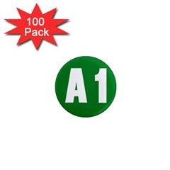 Autostrada A1 1  Mini Magnets (100 pack)