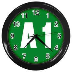 Autostrada A1 Wall Clocks (Black)