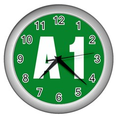 Autostrada A1 Wall Clocks (silver)