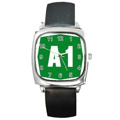Autostrada A1 Square Metal Watch