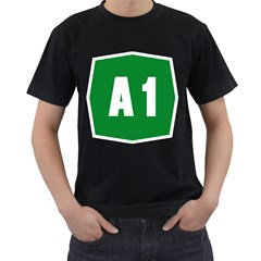 Autostrada A1 Men s T-Shirt (Black) (Two Sided)