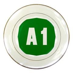 Autostrada A1 Porcelain Plates