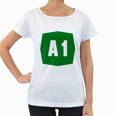 Autostrada A1 Women s Loose-Fit T-Shirt (White)